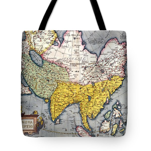 Antique Map Of Asia Tote Bag by Claes Jansz