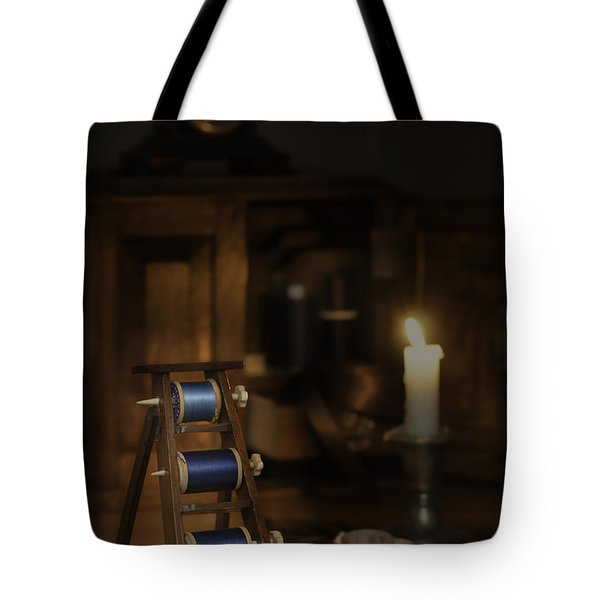 Antique Sewing Items Tote Bag by Amanda Elwell