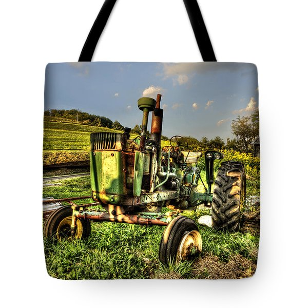 Antique Tractor Tote Bag by Dan Friend
