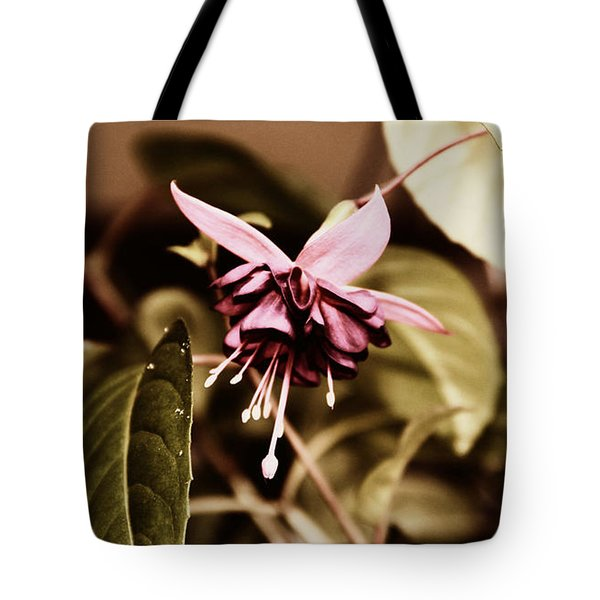Antiqued Fuchsia Tote Bag by Jeanette C Landstrom