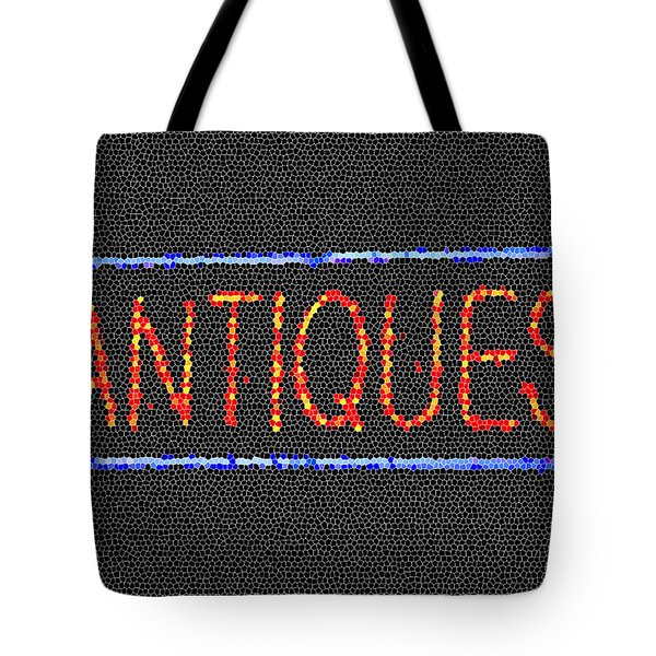 Antiques Mosiac Tote Bag by Melany Sarafis