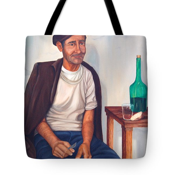 Tote Bag featuring the painting Antonio by AnnaJo Vahle