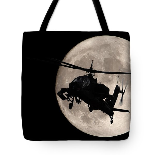 Apache In The Moonlight Tote Bag