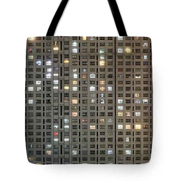 Apartment Block At Night, Typical Tote Bag by Axiom Photographic