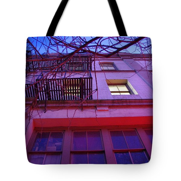 Tote Bag featuring the photograph Apartment Building by Marilyn Wilson