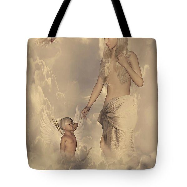 Aphrodite And Eros Tote Bag