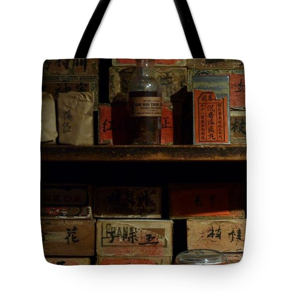 Tote Bag featuring the photograph Apothecary by Newel Hunter