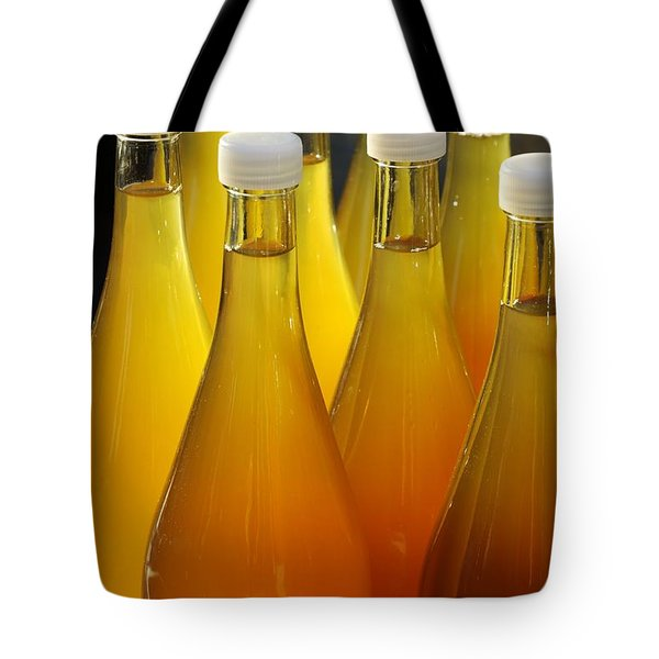 Apple Juice In Bottles Tote Bag by Matthias Hauser
