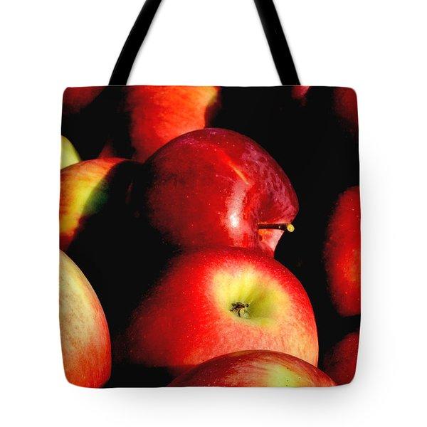 Apple Time Tote Bag by Joann Vitali