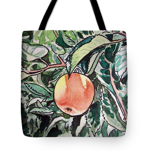 Apple Tree Sketchbook Project Down My Street Tote Bag by Irina Sztukowski