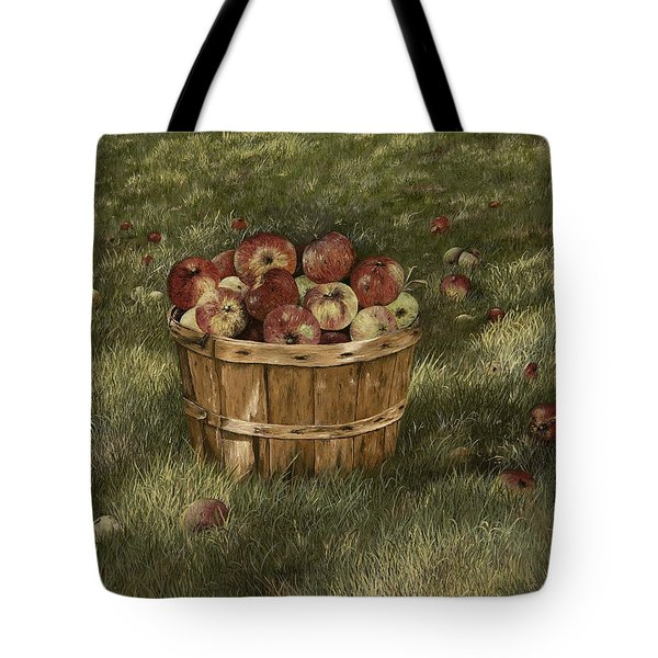 Apples In Basket Tote Bag