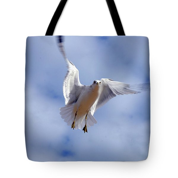 Tote Bag featuring the photograph Applying Brakes In Flight by Clayton Bruster