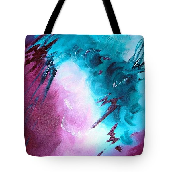 Tote Bag featuring the painting Approaching Storm by Mary Kay Holladay