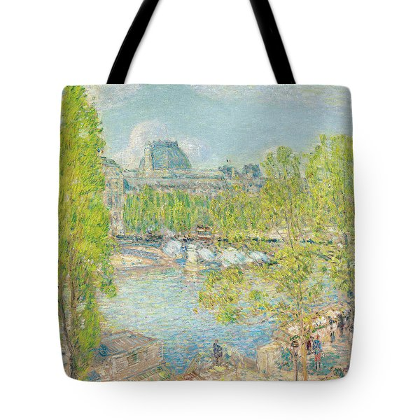 April On The Quai Voltaire In Paris Tote Bag by Childe Hassam