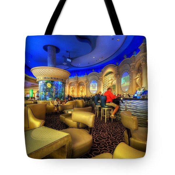Aqua Bar Tote Bag by Yhun Suarez
