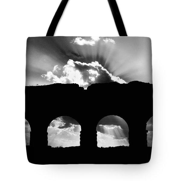 Aqua Claudia Aqueduct Tote Bag