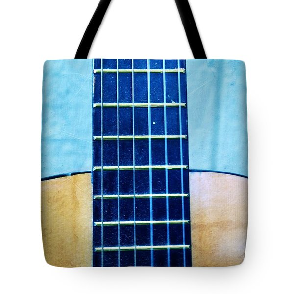 Aqua Guitar Tote Bag