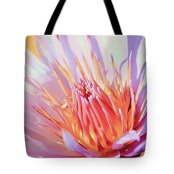 Aquatic Bloom Tote Bag by Julie Palencia