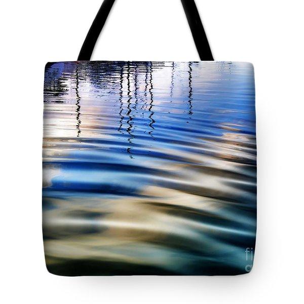 Aquatic Reflections Tote Bag by Mariola Bitner