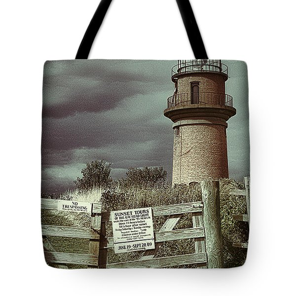 Tote Bag featuring the photograph Aquinah Light II Marthas Vineyard by Jack Torcello