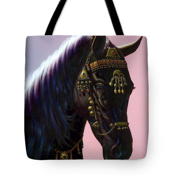 Arab Horse Tote Bag by MGL Studio - Chris Hiett