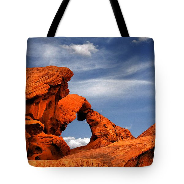 Arch Rock - Amazing Show Of Nature Tote Bag by Christine Till