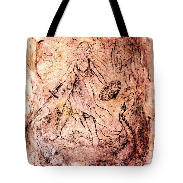 Archangel Study Tote Bag by Rachel Christine Nowicki