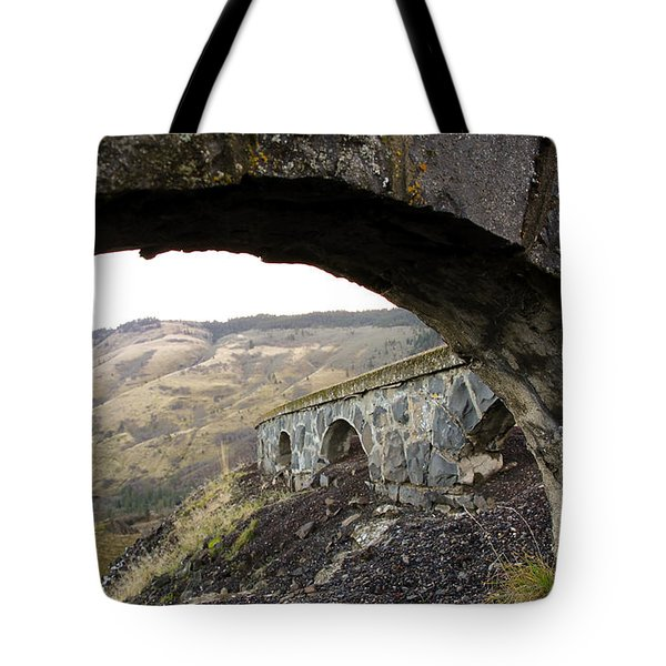 Tote Bag featuring the photograph Arches And Mountains by Steve McKinzie