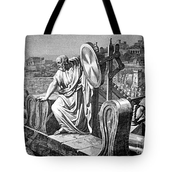 Archimedes Heat Ray, Siege Of Syracuse Tote Bag by Science Source