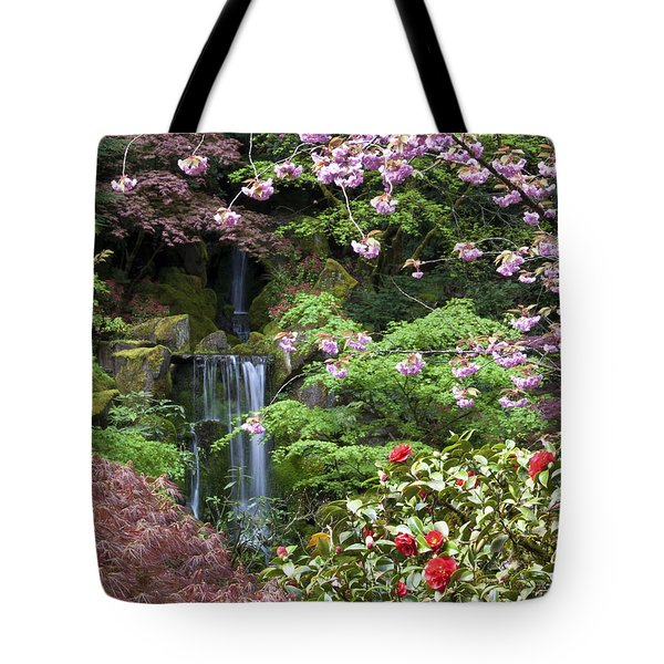Arching Cherry Blossoms Tote Bag