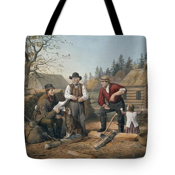 Arguing The Point Tote Bag by Currier and Ives