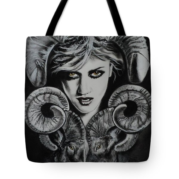 Aries The Ram Tote Bag by Carla Carson