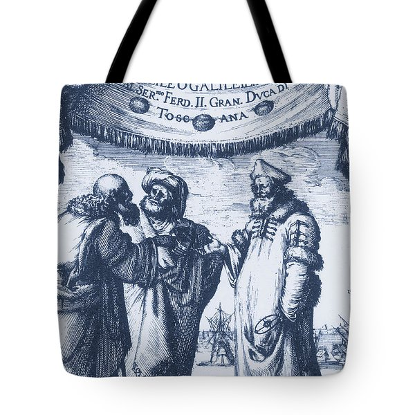 Aristotle, Ptolemy And Copernicus Tote Bag by Science Source