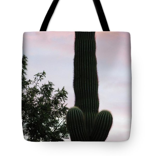 Arizona Cactus Erectus Tote Bag by Rand Swift