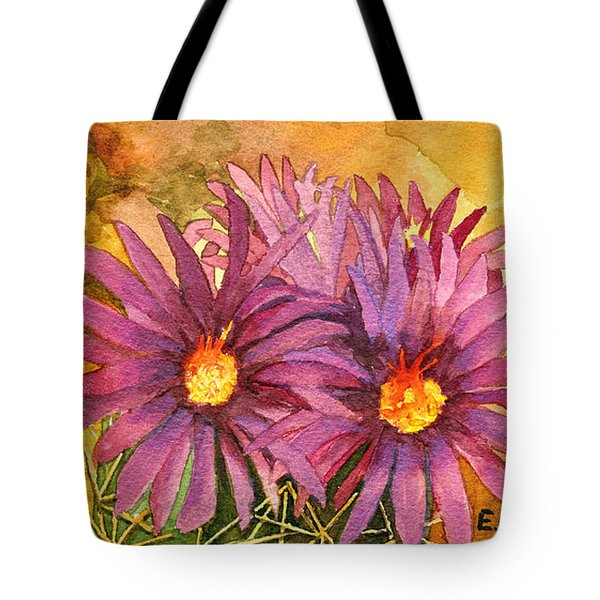 Tote Bag featuring the painting Arizona Pincushion  by Eric Samuelson