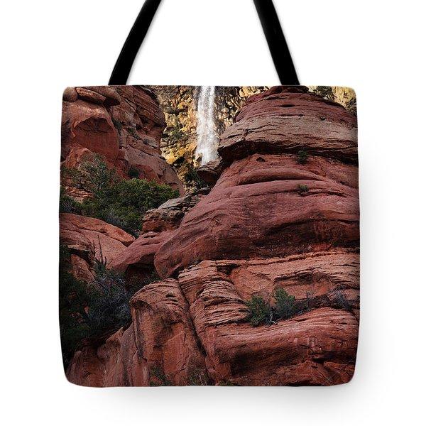 Arizona Red Rocks Waterfall Tote Bag by Karen Lee Ensley