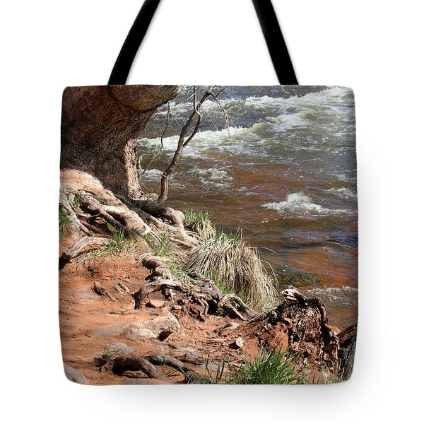 Tote Bag featuring the photograph Arizona Red Water by Debbie Hart
