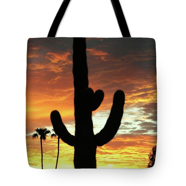 Tote Bag featuring the photograph Arizona Sunrise 01 by Rand Swift