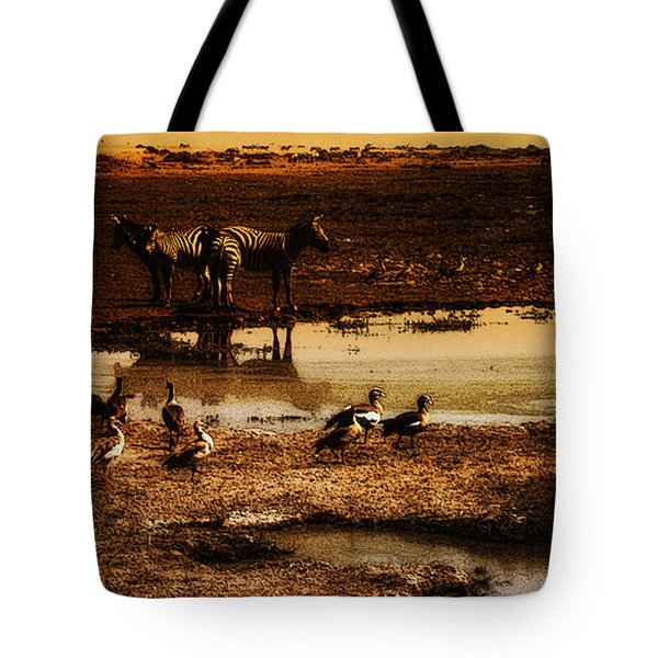 Tote Bag featuring the photograph Around The Pond by Lydia Holly