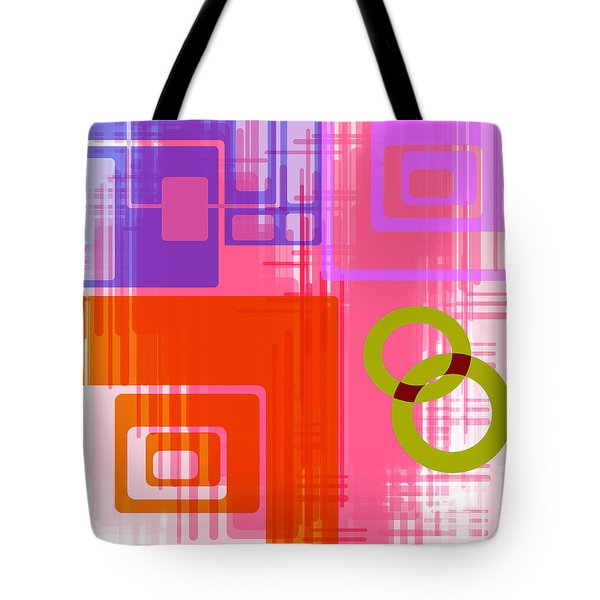 Tote Bag featuring the digital art Art Deco Style Digital Art by Susan Leggett