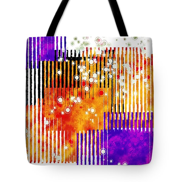Tote Bag featuring the digital art Art Deco Style Patterns by Susan Leggett