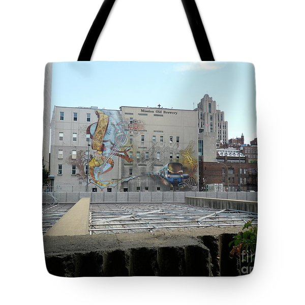 Art Du Commun Mural Mission Old Brewery Tote Bag