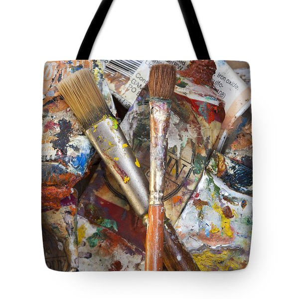 Art Is Messy 3 Tote Bag by Carol Leigh