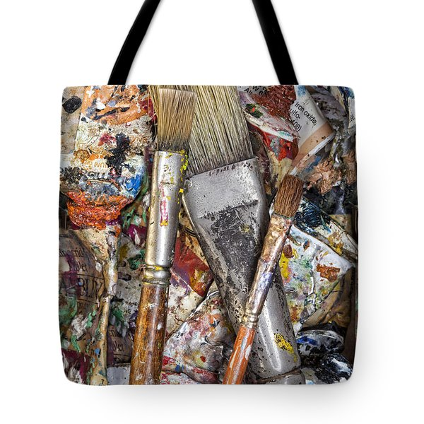 Art Is Messy 4 Tote Bag by Carol Leigh