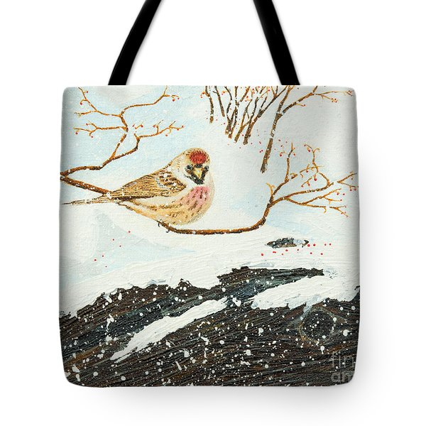 Artic Redpoll Tote Bag
