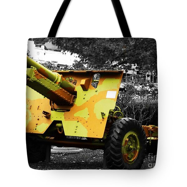 Tote Bag featuring the photograph Artillery Piece by Blair Stuart