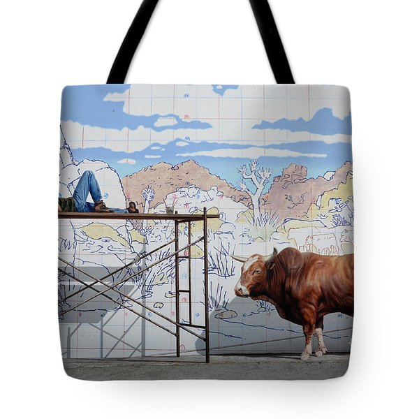 Artist At Work Tote Bag by Bob Christopher