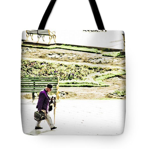 Artist In Purple Tote Bag by Darcy Michaelchuk