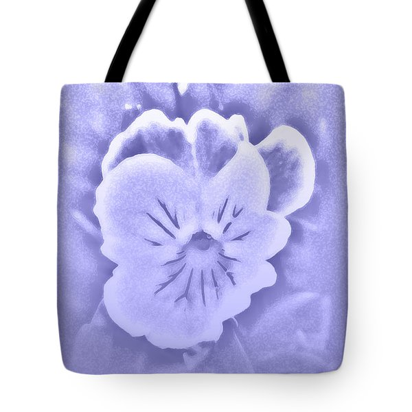 Tote Bag featuring the photograph Artistic Pansy by Karen Harrison