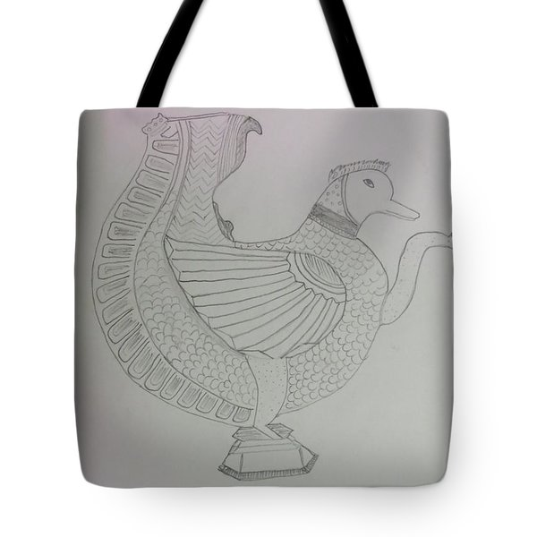 Tote Bag featuring the painting Artistic Teapot by Sonali Gangane